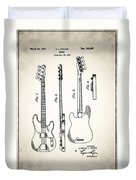Fender Precision Bass Patent 1952 Duvet Cover