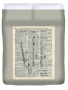 Fender Telecaster Guitar Over Dictionary Page Duvet Cover by Anna W
