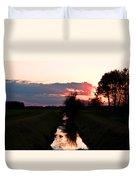 Fenland Sunset Duvet Cover