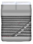 Fenway Park Red Chair Number 21 Bw Duvet Cover