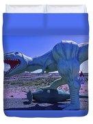 Ferious Dinosaur Trex Duvet Cover