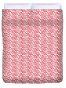 Fermat Spiral Pattern Effect Pattern Red Duvet Cover