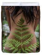 Fern And Woman Duvet Cover