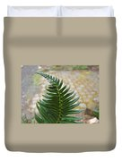 Fern Art Prints Green Garden Fern Branch Botanical Baslee Troutman Duvet Cover