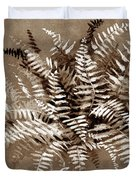 Fern In Sepia Duvet Cover