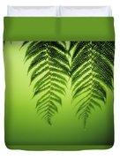 Fern On Green Duvet Cover