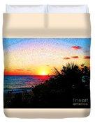 Fernandez Bay Sunset Duvet Cover