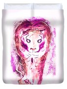 Ferocious Cat Duvet Cover by Myrna Migala