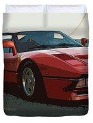 Ferrari 288 Gto - Powerslide Duvet Cover