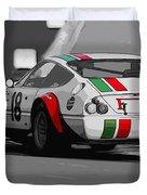 Ferrari Daytona 365 Gtb4 - Italian Flag Livery Duvet Cover