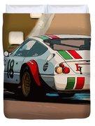 Ferrari Daytona - Italian Flag Livery Duvet Cover
