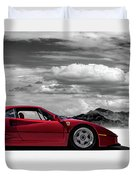 Ferrari F40 Duvet Cover by Douglas Pittman