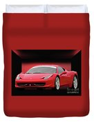 Ferrari F458 'iconic Italian Sports Car' Duvet Cover