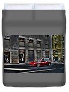 Ferrari In Rome Duvet Cover