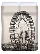Ferris Wheel, 1893 Duvet Cover