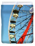 Ferris Wheel Closeup Duvet Cover