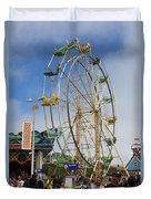 Ferris Wheel Santa Cruz Boardwalk Duvet Cover