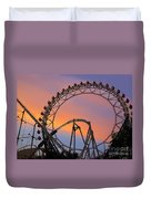 Ferris Wheel Sunset Duvet Cover by Eena Bo