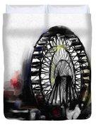 Ferris Wheel Tower Duvet Cover