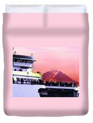 Ferry And Da Mountain Duvet Cover