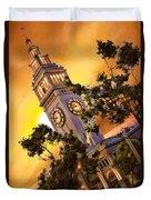 Ferry Building Golden Sun Duvet Cover