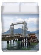 Ferry Dock And Pier At Porteau Cove Duvet Cover