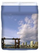 Ferry Dock At Granville Island In British Columbia Duvet Cover