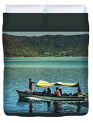 Ferry - Lago De Coatepeque - El Salvador I Duvet Cover