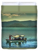Ferry - Lago De Coatepeque - El Salvador Duvet Cover