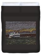 Ferry On Elliott Bay 3 Duvet Cover