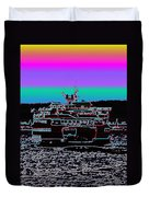 Ferry On Elliott Bay 4 Duvet Cover