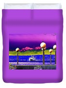 Ferry On Elliott Bay Duvet Cover