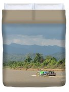 Ferry On The Chindwin 2 Duvet Cover