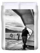 Ferry Passengers Duvet Cover