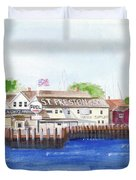 Ferry To Greenport Duvet Cover