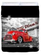 Festive Chevy Truck Duvet Cover