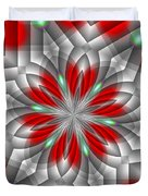 Festive Fractal Duvet Cover