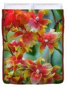 Festive Orchids Duvet Cover