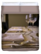Festive Table Setting For A Formal Dinner  Duvet Cover