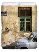 Fiat 600. Belgrade. Serbia Duvet Cover