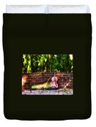 Fiddle On The Garden Wall Duvet Cover