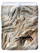 Fiddler Crab On Driftwood Duvet Cover