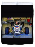 Fiddling About Indy Garages Duvet Cover