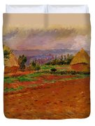 Field And Haystacks 1885 Duvet Cover