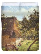 Field At Varengeville Duvet Cover by Camille Pissarro