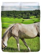 Field Dreams Duvet Cover by Harry Warrick