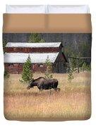 Field Moose Duvet Cover