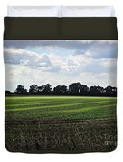 Field Near Coswig Duvet Cover