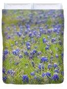 Field Of Blue Bonnet Flowers Duvet Cover
