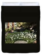 Field Of Daisies In Tahoe Duvet Cover
